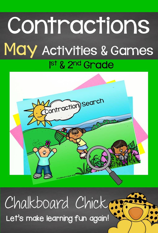 Contractions May Activities Games   2nd grade activities [ 1500 x 1020 Pixel ]