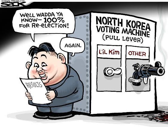 Sack Cartoon It S Kim Jong Un In A Rout Alex Funny Political
