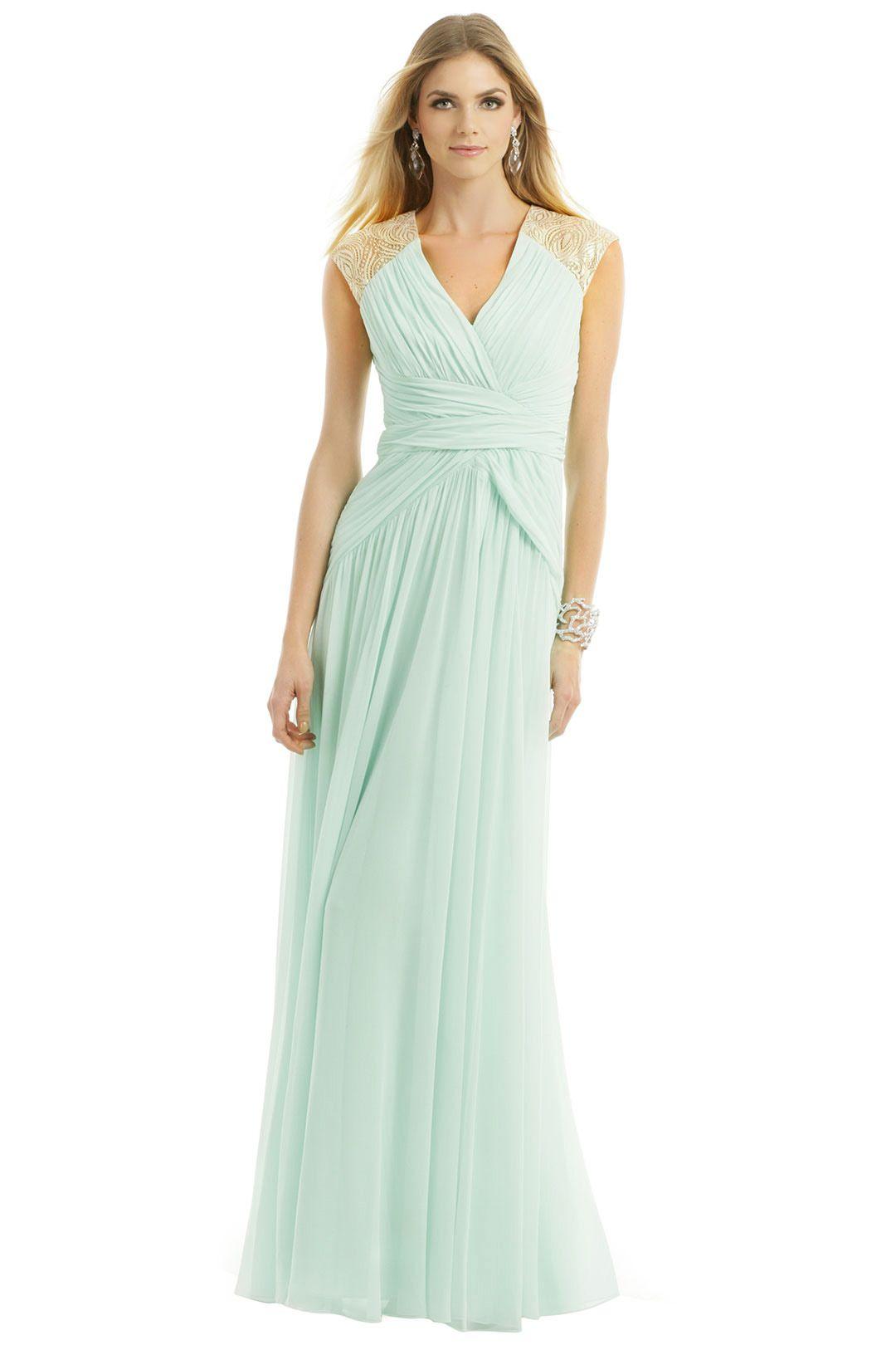 Badgley Mischka Mint Dream Gown. Rent the runway. Mint bridesmaid ...