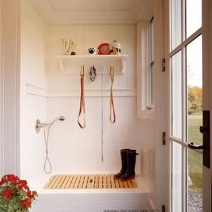 Arbonies King Vlock Laundry Mud Rooms Dog Shower Mudroom Shower Doggy Shower Mud Room Shower Subway Tiled Shower Paneled S Country Laundry Rooms Laundry Room Design Dog Washing Station