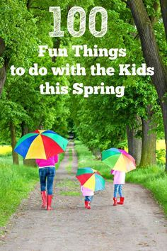 Fun things to do with the kids this Spring -- so many easy & free ideas & activities!