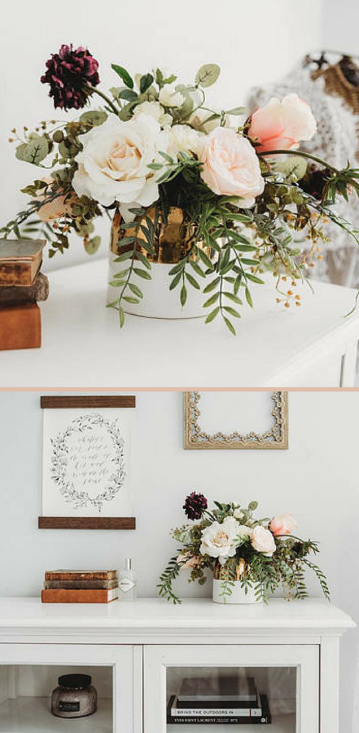 Such a beautiful and classic flower arrangement. Love the peach and ...