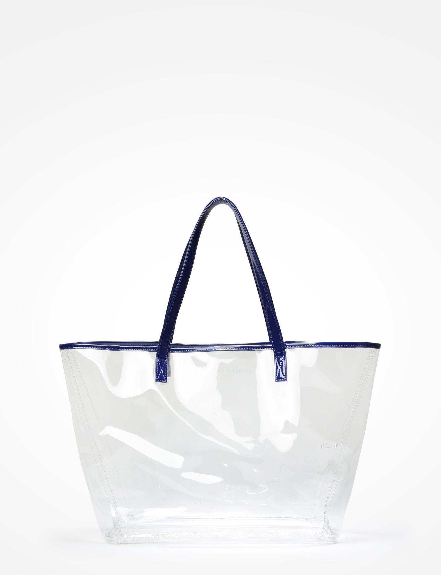 76cc4406a7d ARMANI EXCHANGE CLEAR PLASTIC TOTE Tote bag Woman d | ::: TOTES ...