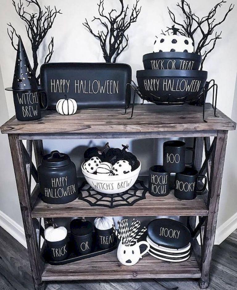 46 Gorgeous Halloween Kitchen Cabinets Decor Ideas (1