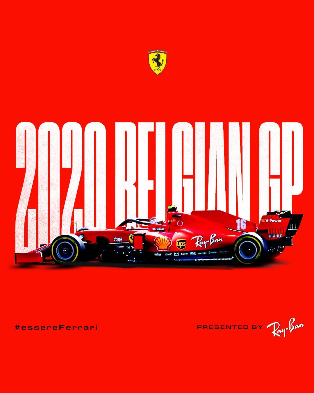 Scuderia Ferrari On Instagram Belgiangp Race Day Presented By Rayban Essereferrari Race Day Formula 1 16 V