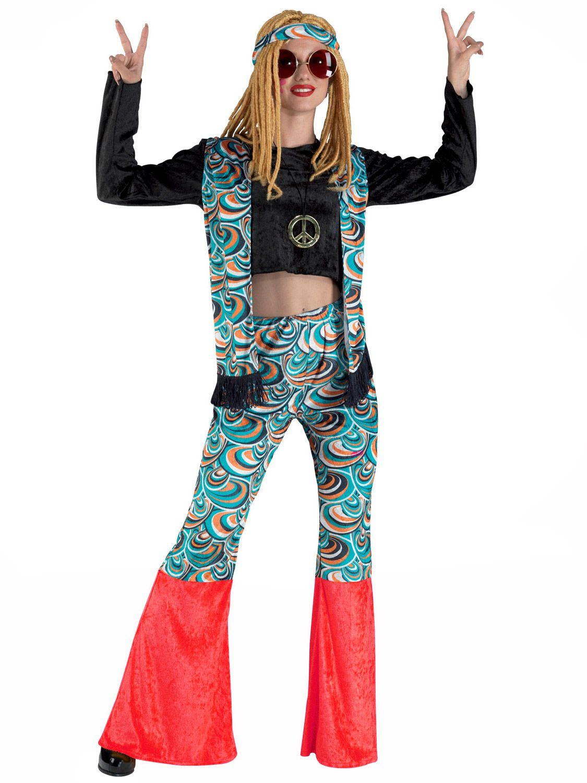 5578c6f5da1bf Disfraz hippie azul psicodélico mujer Fiesta De Los 70