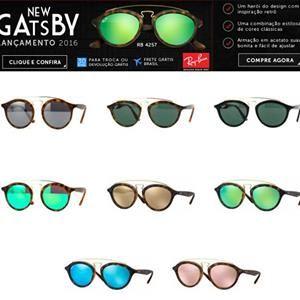 f4716aab449be Nossa Coleção de Gatsby está ficando maravilhosa! O Lançamento Mundial da  Ray-Ban em