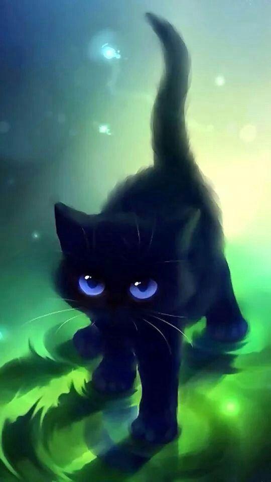 Gato Negros Loooove в 2019 г Иллюстрации кот Кошачьи
