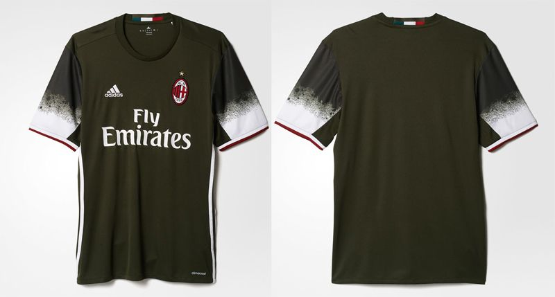 Terceira camisa do Milan 2016-2017 Adidas kit