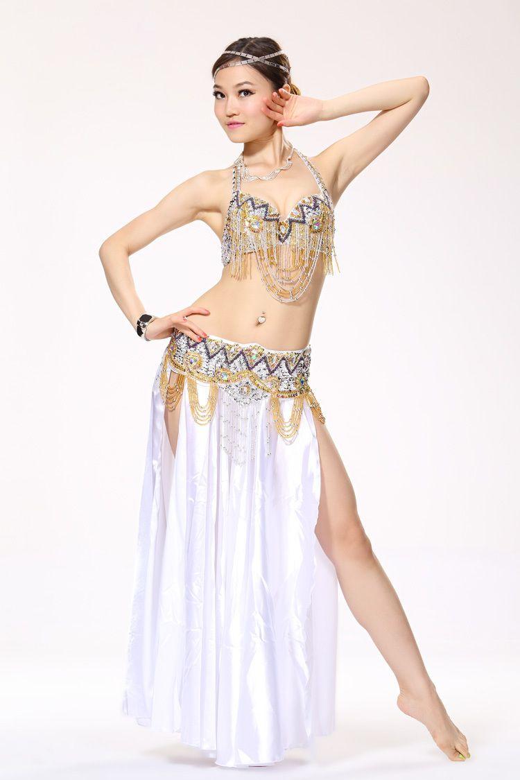 36015d61ea6d Traje de danza del vientre con cuentas profesional de la ropa del ...