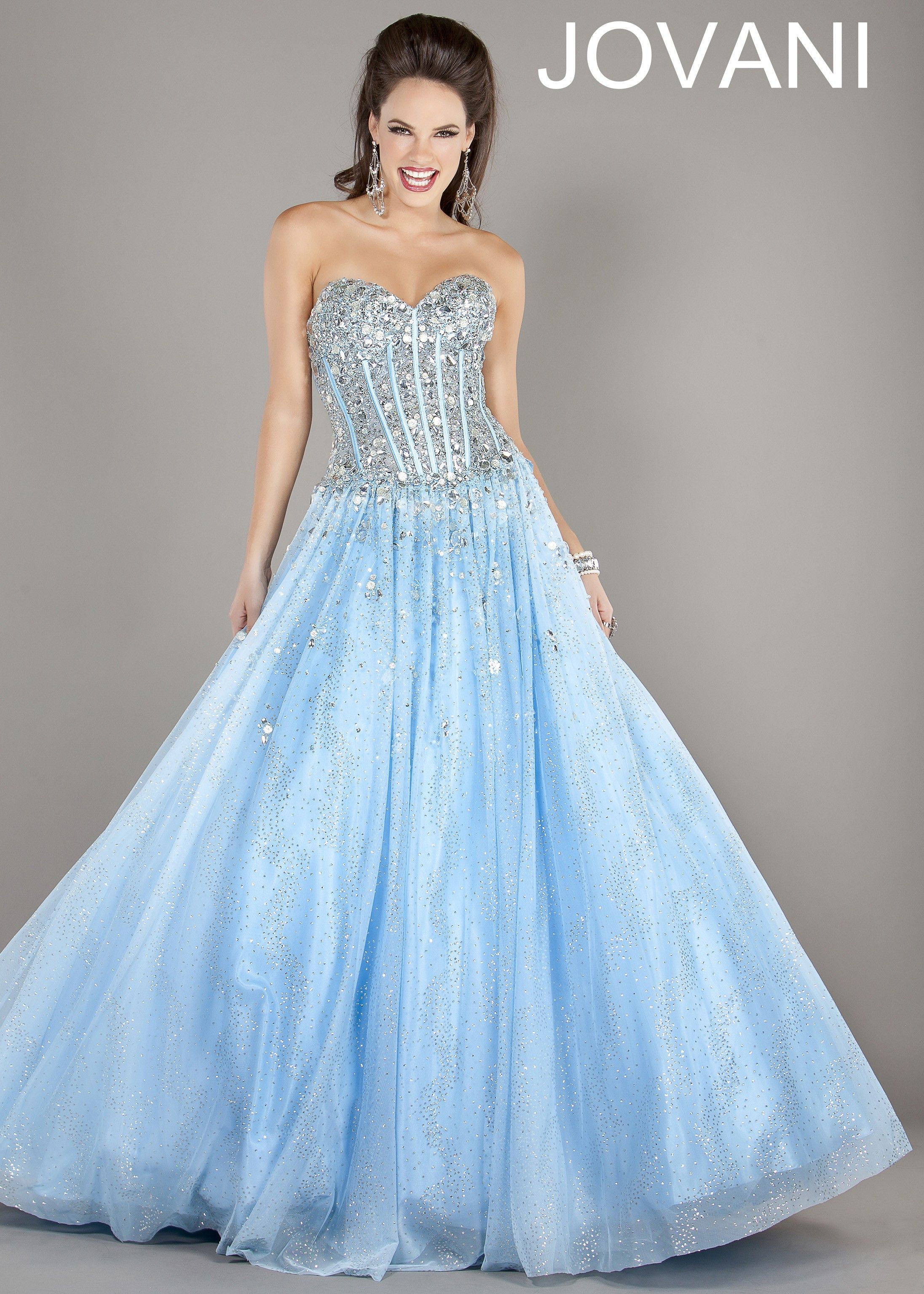 Inexpensive Strapless Tulle Long A line Sweetheart Ball Gown Light