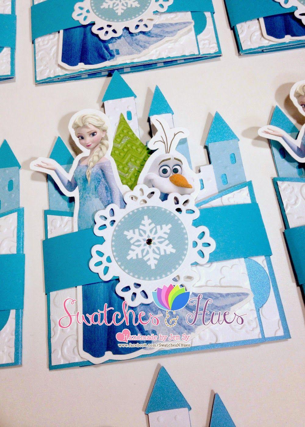 Frozen theme bendi fold birthday invitation. | Frozen birthday ...