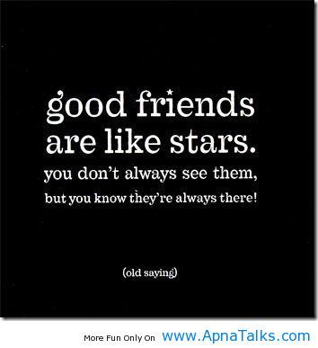 Funny Friendship Quotes Good Friends Are Like Stars True