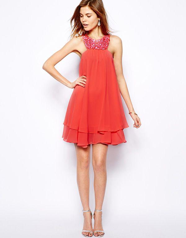 35bf6d4c5 vestidos-cortos-para-bodas-coral | LOOKS | Vestidos cortos、Vestidos ...