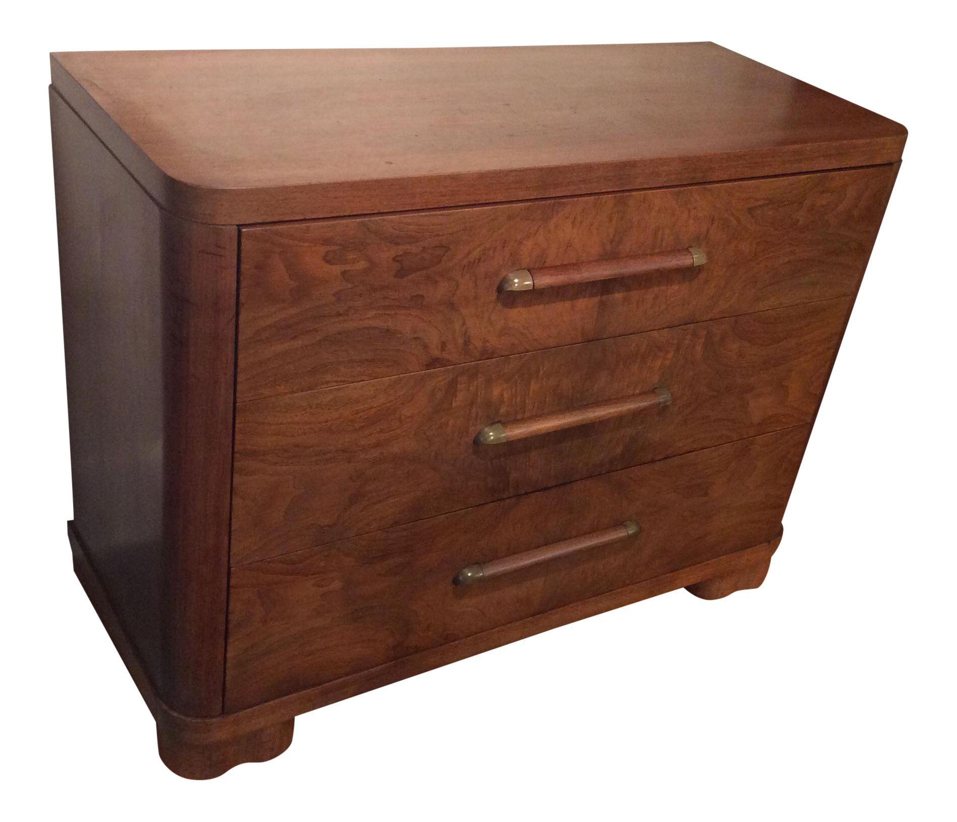 Vintage Art Deco Burled Walnut Dresser By Vanleigh Walnut