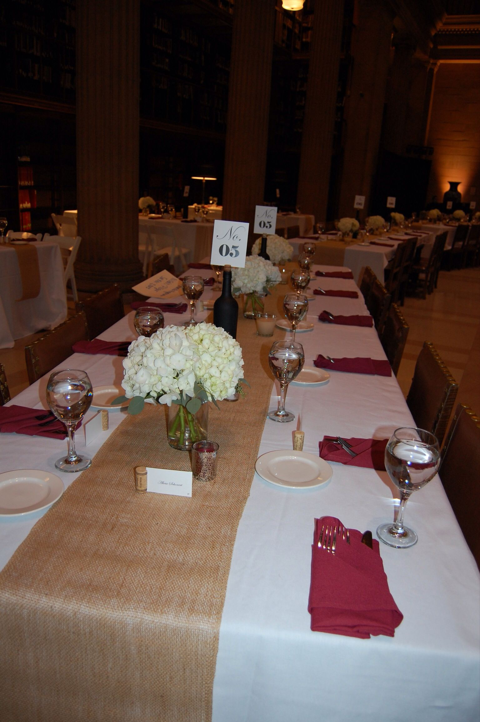 wedding halls st paul mn%0A Beautiful table decorations at The James J  Hill Library in St Paul MN