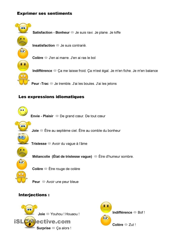 Emocje - słownictwo 8 - Francuski przy kawie