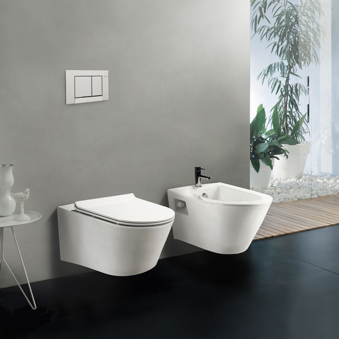 Newly Redesigned Coco Wall Mount Toilet With Low Consumption Dual