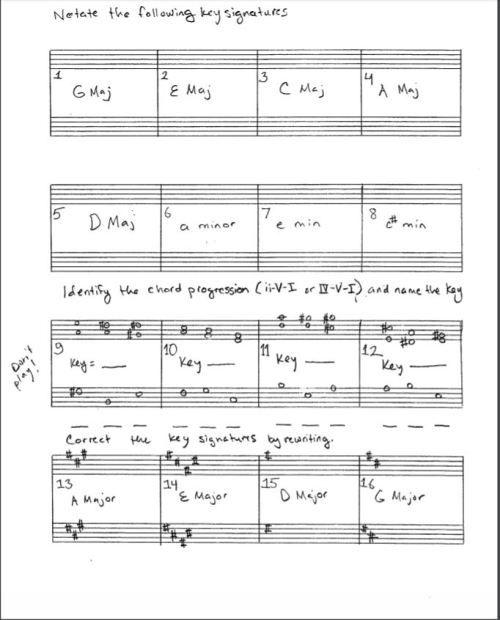 Key Signature Worksheet Pic Music Theory Pinterest Music