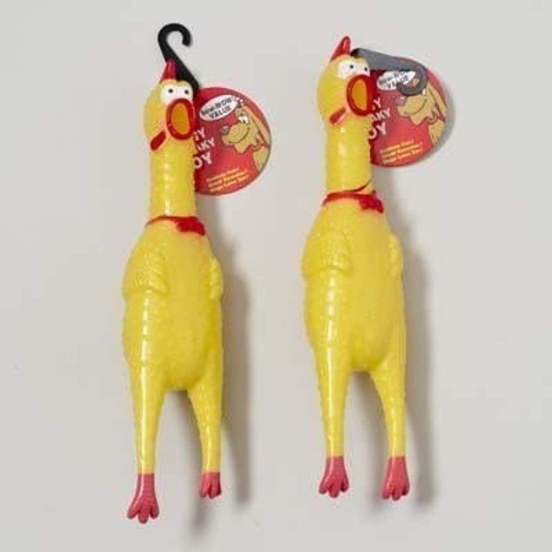 Dog Toy Vinyl Chicken With Squeaker 13 1 4 Inch On Chain Case