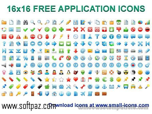 Get The 16x16 Free Application Icons Software For Windows For Free Download With A Direct Download Link Having Resume Support Application Icon Application Icon