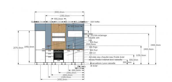 Plan technique cuisine 3m dessin agencement cot for Plan technique cuisine