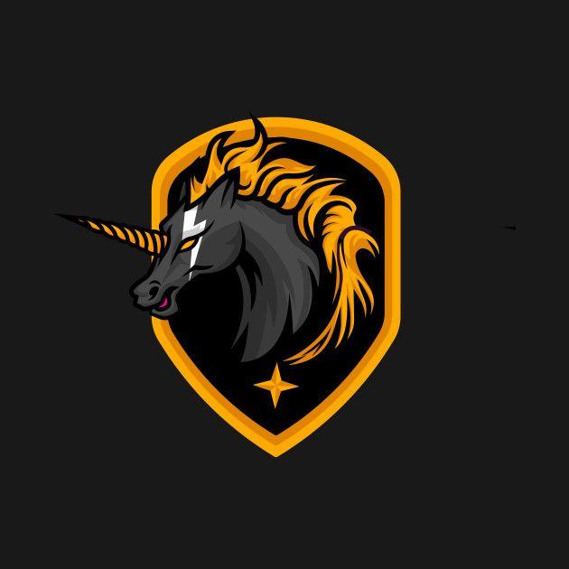 Check Out This Awesome Black Unicorn Design On Teepublic Art Logo Unicorn Logo Logo Illustration