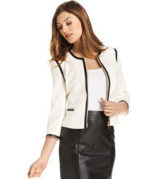 87.29 Calvin Klein Petite Jacket a50a55dc7