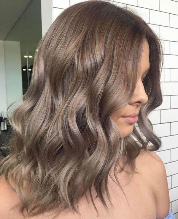 Hair color cappuccino: dark, light and frosty (photo) , # - #cappuccino  #Color #dark #frosty #Hair #Light #Photo | Yeni saç, Bej saç, Orta saç
