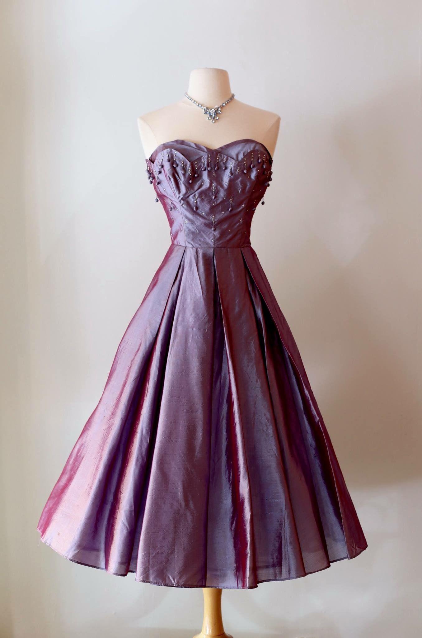 Excepcional Vestidos De Cóctel 1950 Colección de Imágenes - Vestido ...