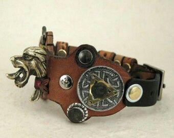 Steampunk viking bracelet