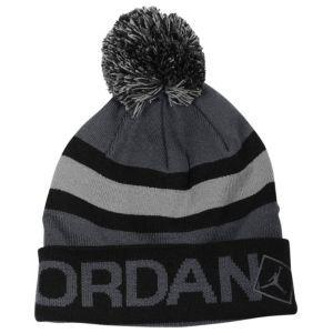 7e652d9d7a4 Jordan Go Two Three Pom Beanie - Black/Dark Grey/Cement | Hats ...