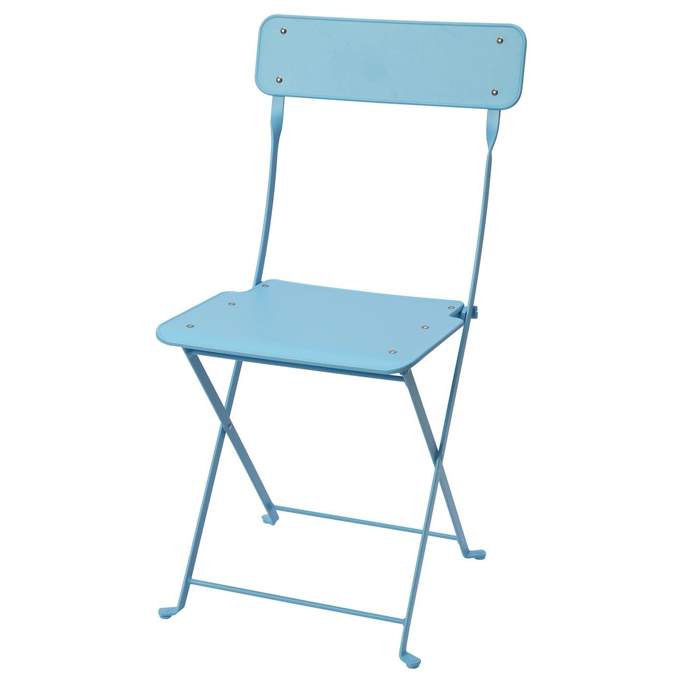 Stuhl Aussen Saltholmen Faltbar Blau Garten Stuhle Ikea