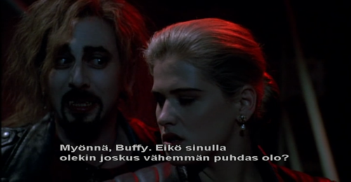watching buffy with finnish subtitles