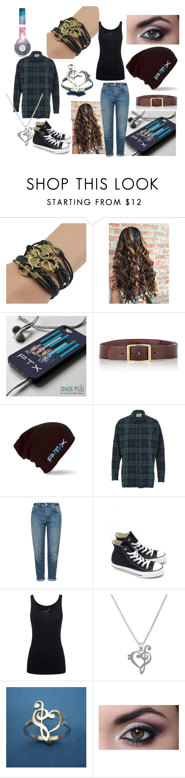 Female Avi Kaplan outfit by mysterious-archer on Polyvore featuring Essentiel, Juvia, Topshop, Converse, NOVICA, C.S. Simko and Beats by Dr. Dre