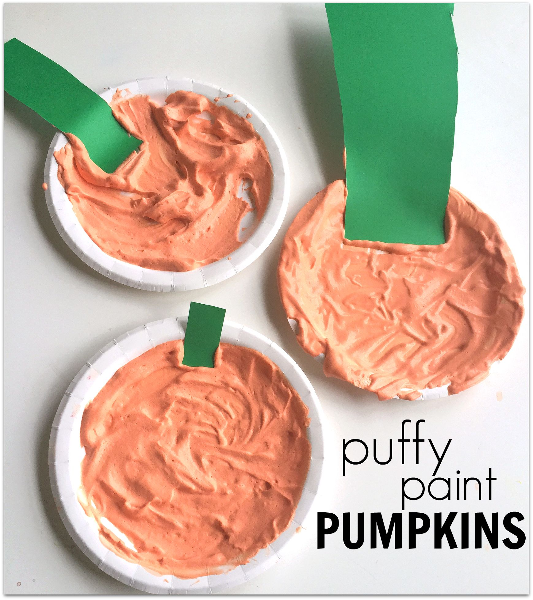 Puffy Paint Pumpkin Craft - No Time For Flash Cards