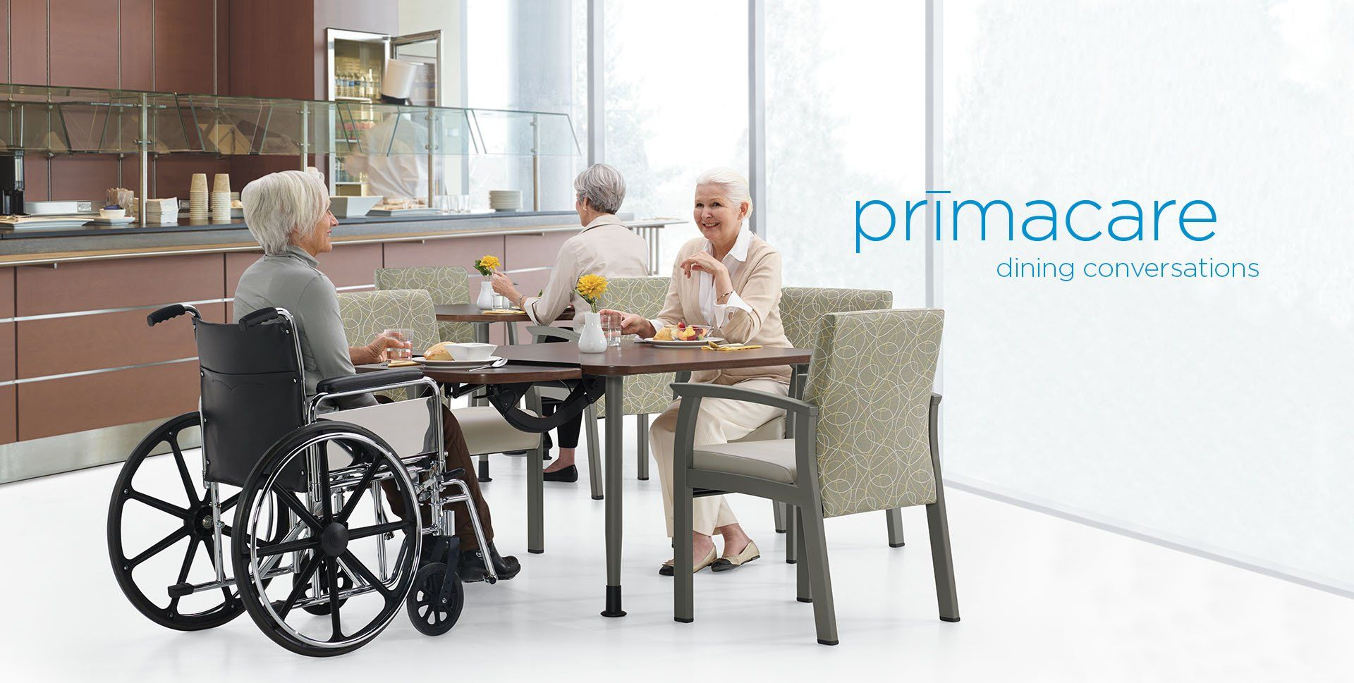 Dining furniture for a healthcare facility by
