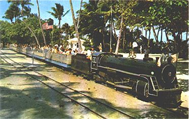 The Crandon Park zoo train. A special treat to go on that train ride as it went all through the Crandon Park Zoo
