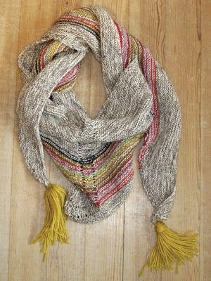Lotte Hoenholt: Strikket tørklæde