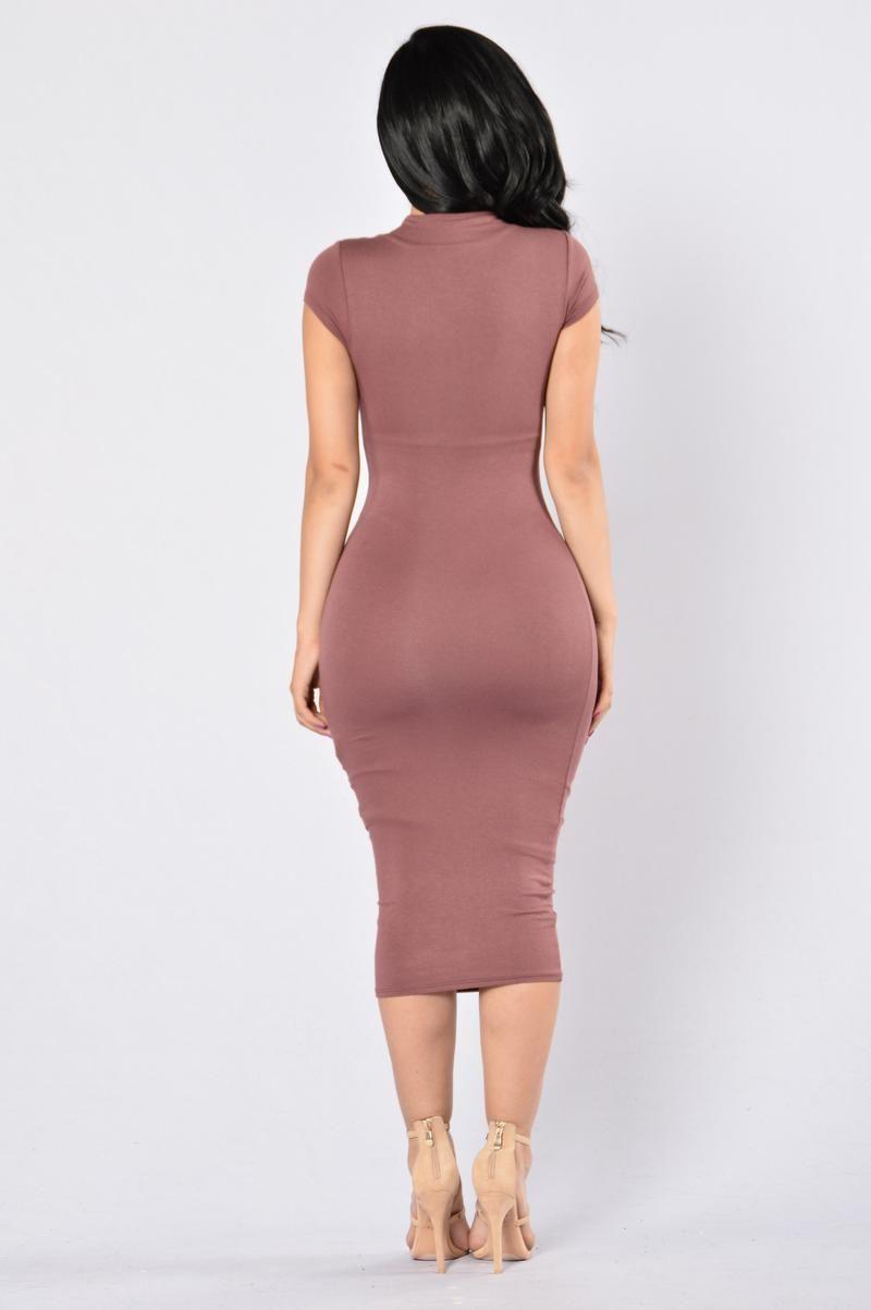 Jojo Dress - Red Brown