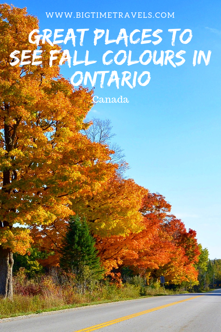 Stunning Places To See Fall Colours In Southern Ontario Big Time Travels Canada Travel Ontario Travel Canadian Travel