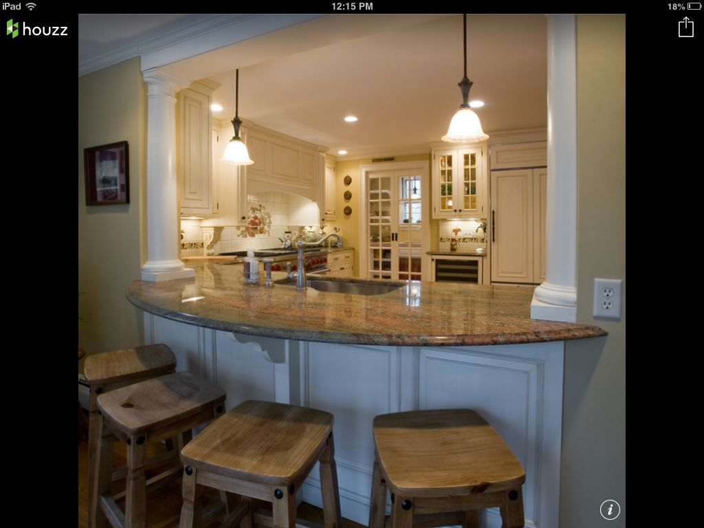 Wonder If I Can Open 1 2 The Wall And Do This Kitchen Remodel Small Kitchen Remodel Layout Kitchen Remodel