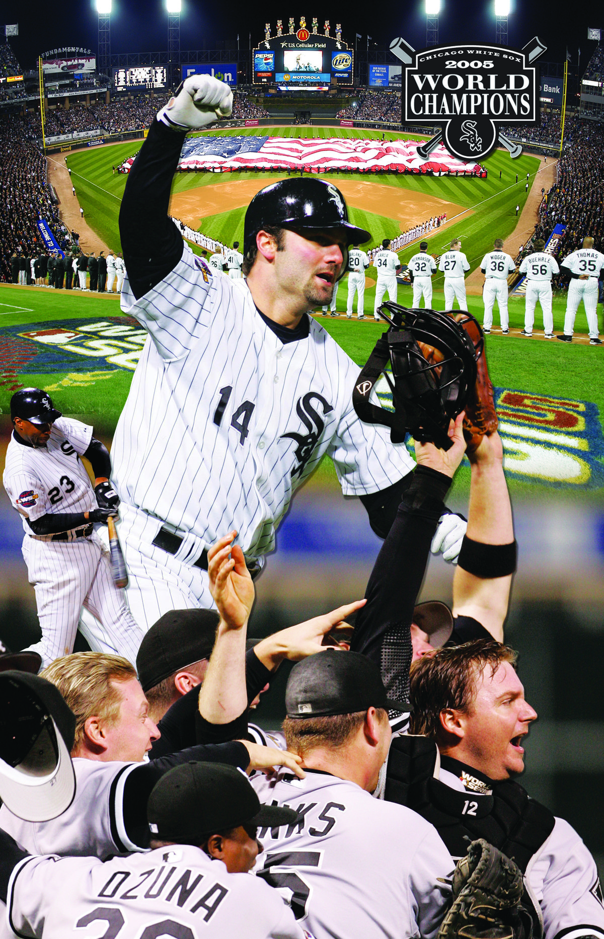 June 9 2012 Father Daughter Day And Commemorative 2005 World Series Canvas First 20 000 Fans White Sox Baseball Chicago Sports Chicago White Sox