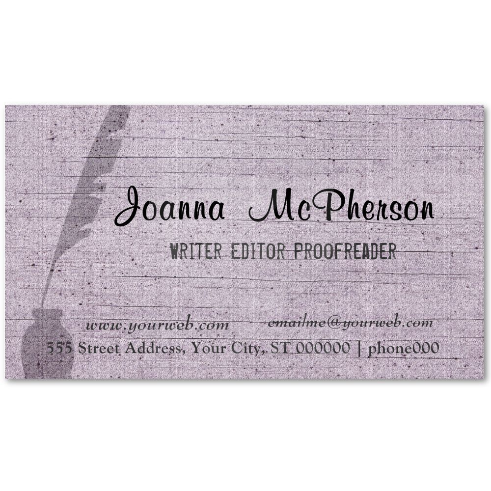 Modern Writer S Antique Pen Professional Business Card Business