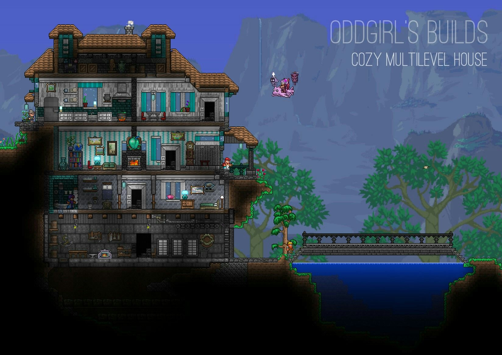 Cody Multilevel House by OddGirl terraria… sigh I know