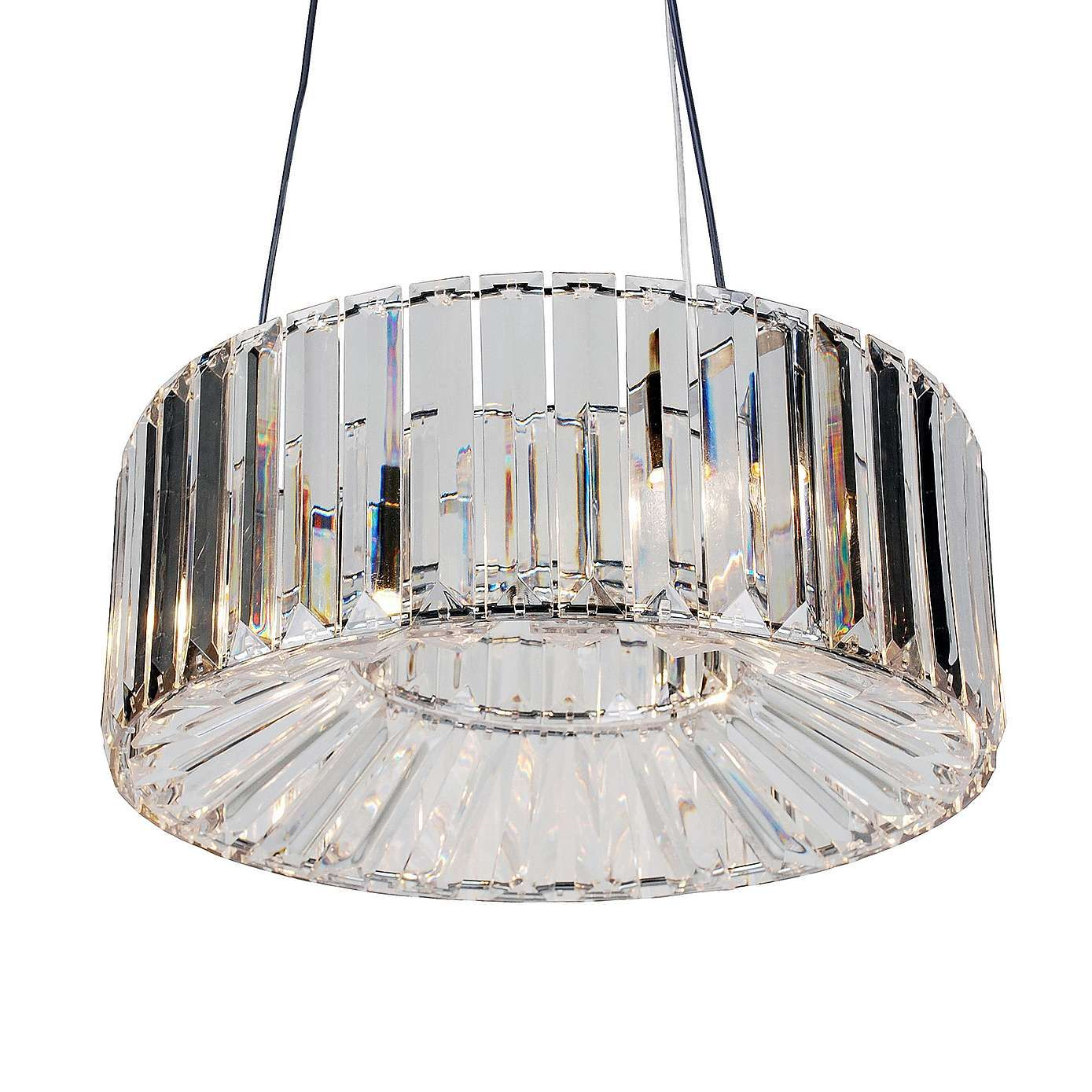 Dunelm Valentine Sparkling Crystal Clear Ceiling Fitting