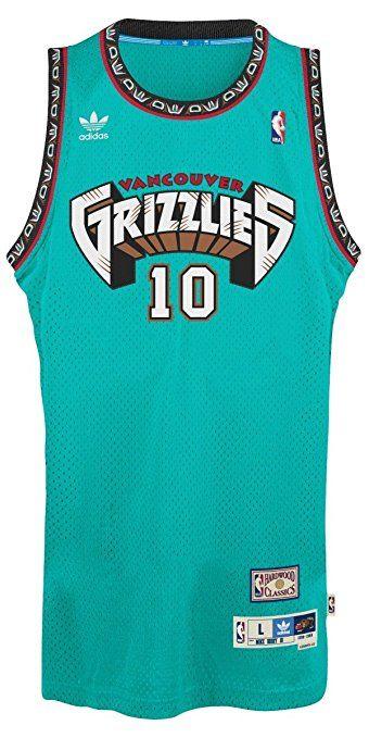 f05f4828c2c6 Vancouver Grizzlies Adidas NBA Mike Bibby  10 Soul Swingman Jersey (Teal)  Small