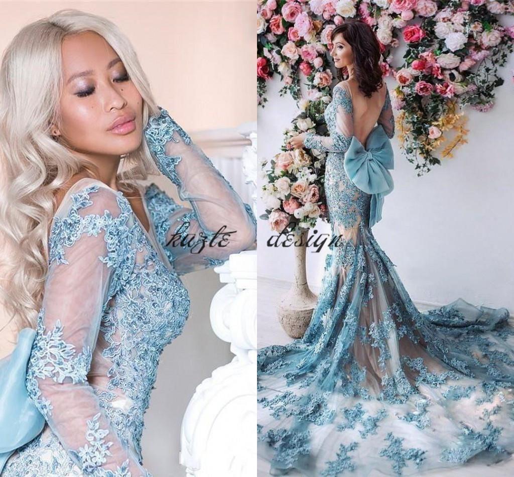 2018 Gorgeous robe de soiree Sexy Backless Mermaid Prom Dresses With ...