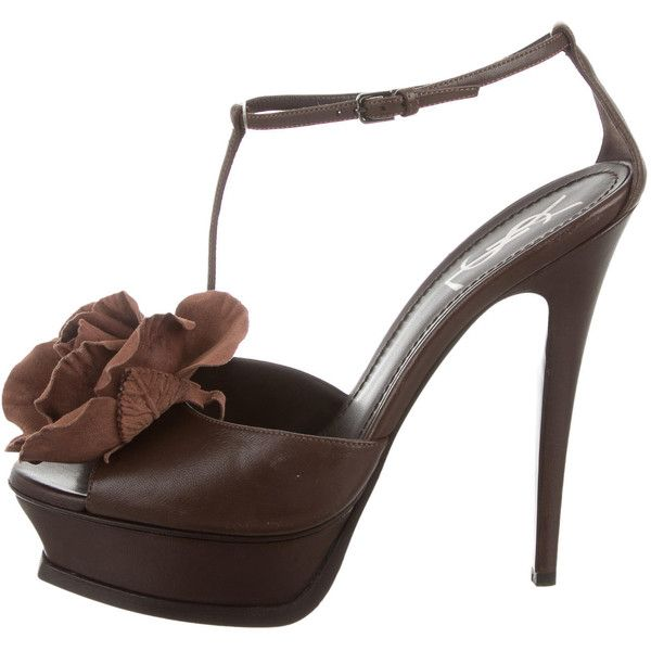 Pre-owned - Leather sandals Saint Laurent Discount Free Shipping Low Shipping Fee Sale Online Buy 4Epkw5IRf