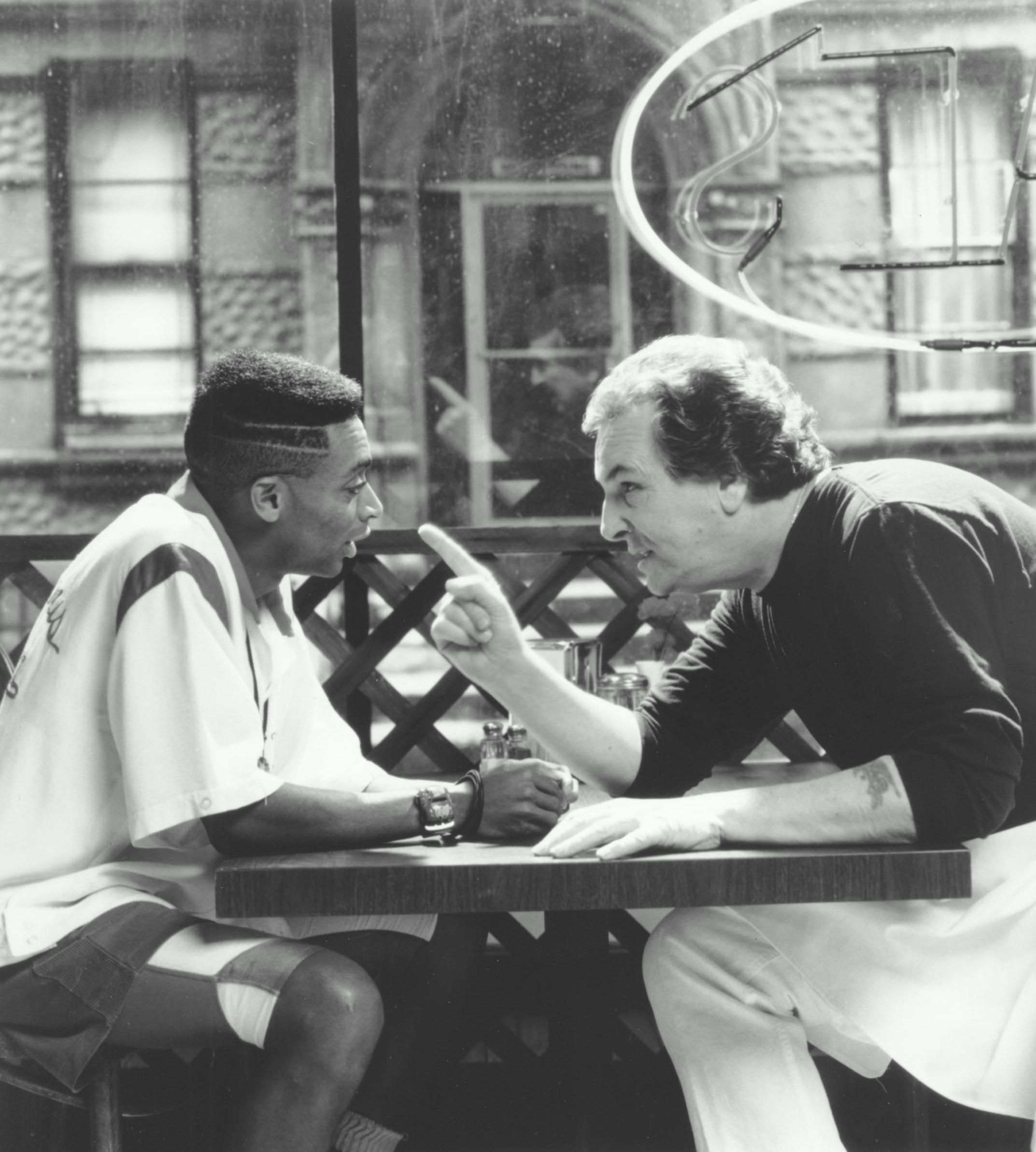 """Do the Right Thing"" movie still, 1989. L to R Writer"